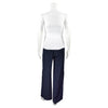 SALE! Ample Slit Trouser Pant in Navy by Shosh