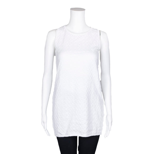 NEW! Sleeveless Textured White Top by Knit Knit