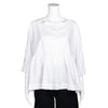 SAKE! Oversized White Peplum Blouse by AMMA Kedem Sasson