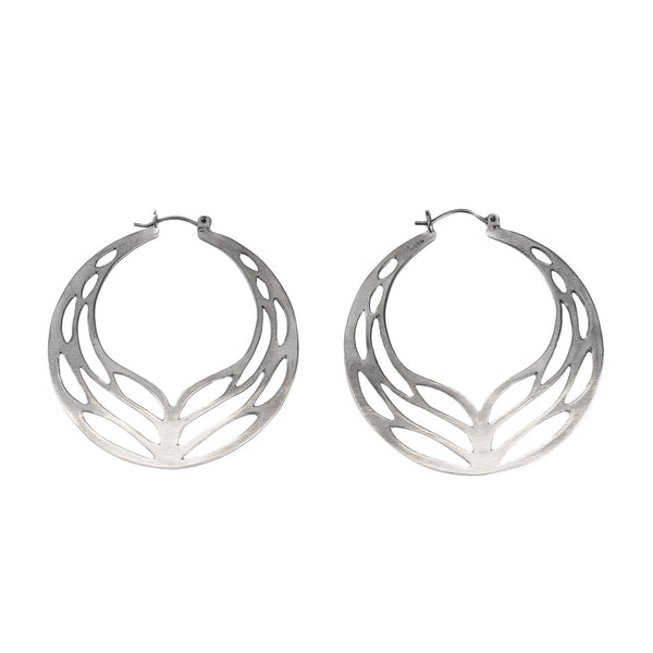 Medium Winged Hoop Earrings by Luana Coonen