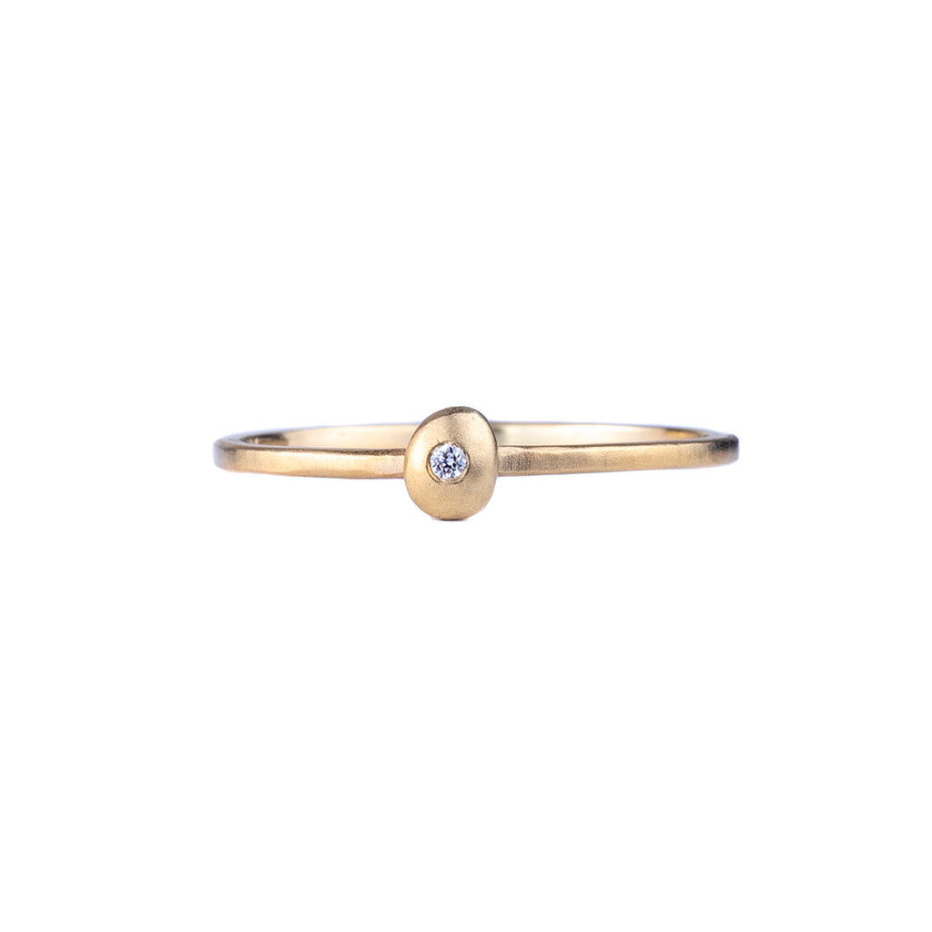 NEW! Worry Stone Stacker Ring with Diamond by Sarah Swell