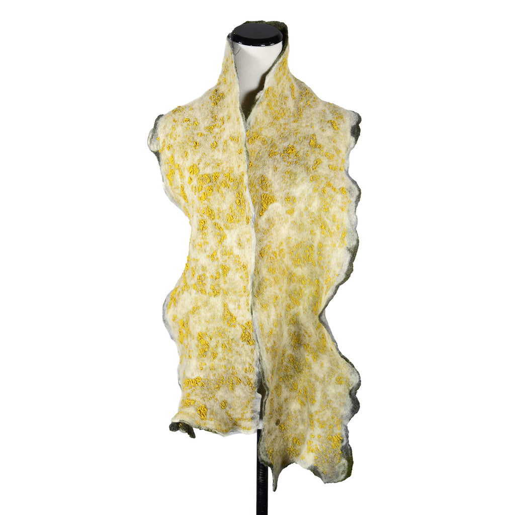 Skinny Man Silk Scarf in Gold Yellow by Gina Pannorfi