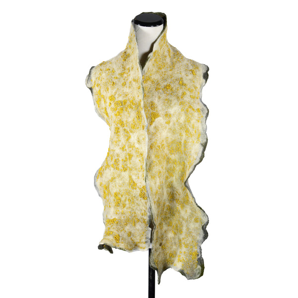 NEW! Skinny Man Silk Scarf in Gold Yellow by Gina Pannorfi