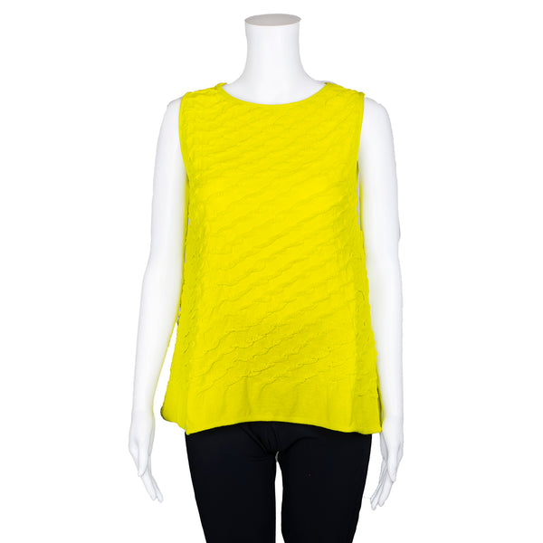 NEW! Sleeveless Textured Limoncello Top by Knit Knit