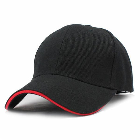 Casual Baseball Cap Black/Red