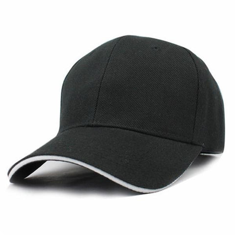 Casual Baseball Cap Black/White