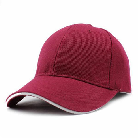 Casual Baseball Cap Navy Red