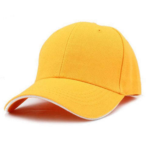 Casual Baseball Cap Yellow