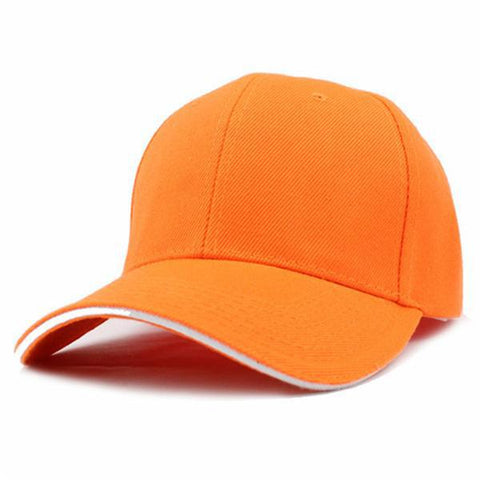 Casual Baseball Cap Orange