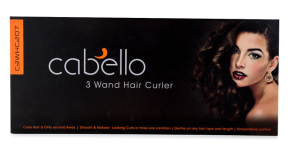 Cabello 3 Wand Hair Curler - Black