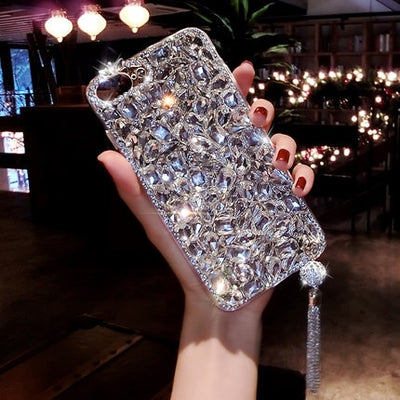 Bling Jewelled Rhinestone Crystal Diamond Soft Back Pendant Phone Case Cover For iPhone 11 Pro MAX X 6s 7 8 Plus 5 XR Xs Max - Divn$ProV
