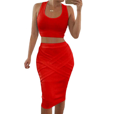 2PC Crop Top Set - Divn$ProV