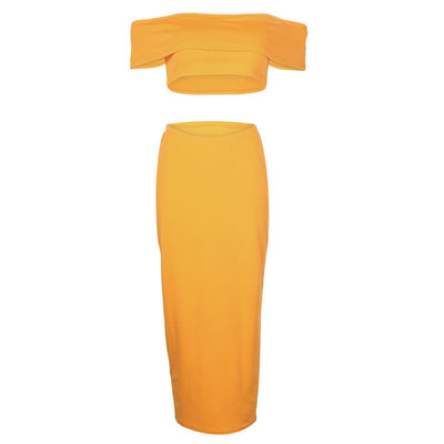 Women's Yellow Two Piece Set - Divn$ProV