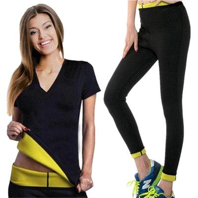 Women Yoga Slimming Shirts+Sports Pants Yoga Set - Divn$ProV