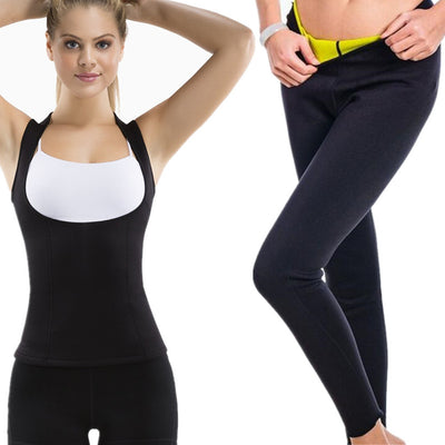 Fitness Sport Suit Women's Tracksuit Yoga Slimming Shirts Gym Running Set Sportswear Slim Long Pants - Divn$ProV