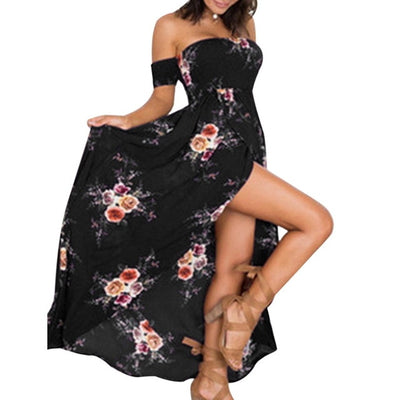 Summer Strapless Split Sundress Plus Size - Divn$ProV