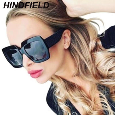 Women Oversized Black Shades oculos UV400 - Divn$ProV