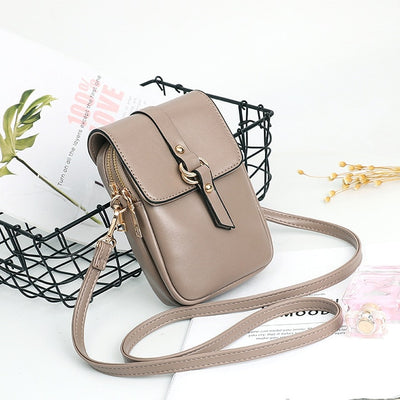 Women Mini Small Crossbody  Leather Flap Phone Bags - Divn$ProV