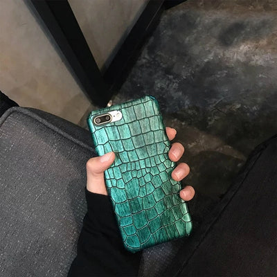 Luxury Retro 3D Crocodile Phone Case Cool Leather Pattern for IPhone 6 - IPhone X/SX - Divn$ProV