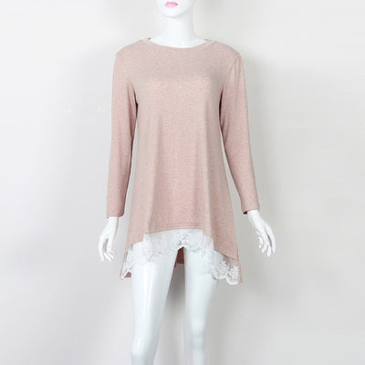 Women Autumn Casual Loose Lace Shirt - Divn$ProV