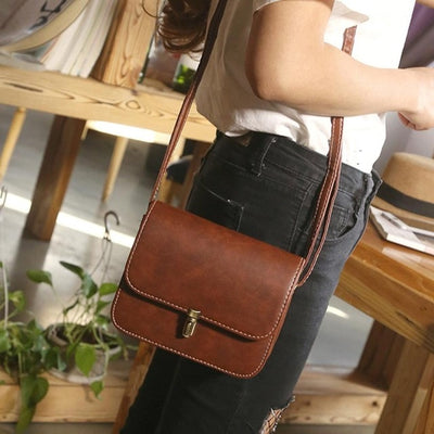New High Quality Leather Lady Satchel Handbag - Divn$ProV