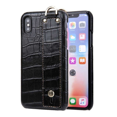 Leather Luxury Crocodile Pattern Hand Strap Genuine Phone Case Cover for IPhone  X/XR/XS/XS MAX - Divn$ProV