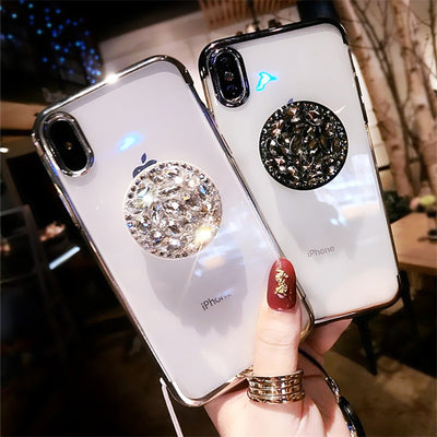 Luxury 3D Diamond bling plating soft case for iphone 5 - XR/XS MAX for Samsung galaxy S7- S9 Note 9 S10 E - Divn$ProV