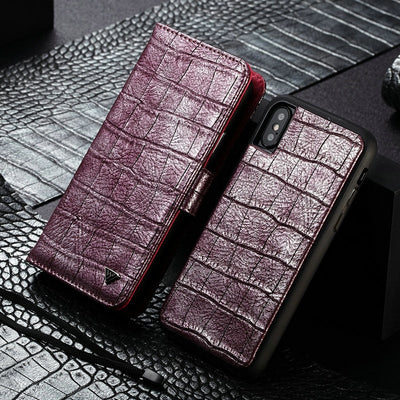 Wallet Leather Crocodile Pattern Fashion Lady Flip Case For IPhone 5 - XR/XS MAX - Divn$ProV
