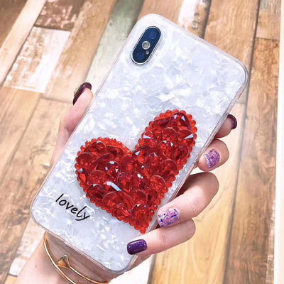 Luxury Diamond Love Heart Phone Case For iPhone 6 - MAX - Divn$ProV