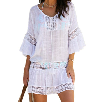 Women Summer Lace Tunic Mini  Plus Size Bohemian Dress - Divn$ProV