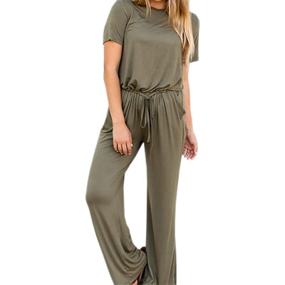 Women Drawstring Loose Casual Long Jumpsuits - Divn$ProV