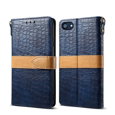 New crocodile grain wallet stand Cover For iphone  6 - XR/XS MAX - Divn$ProV