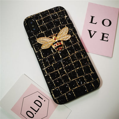 Crocodile pattern geometric diamond black Case for iPhone 6 - XR/XS MAX - Divn$ProV