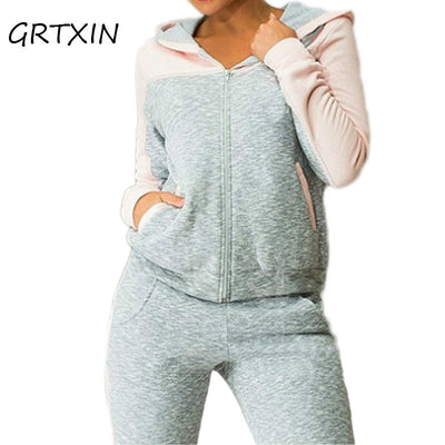 Women Tracksuit Sweat Pant Clothing Spring Hoodies - Divn$ProV