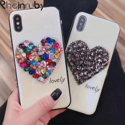 Diamond Crystal Rhinestone Tempered Glass Case For iPhone 6 - Max - Divn$ProV