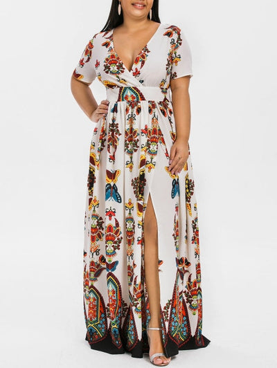 Women Bohemian Beach Party Vintage Elegant High Wasit Dress - Divn$ProV