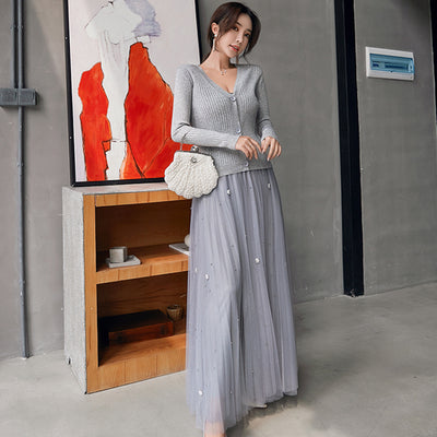 3 PCS Casual Knitted Female Skirts Suits - Divn$ProV