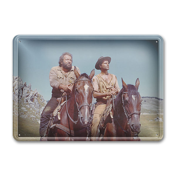 Brothers on horse / They Call Me Trinity - Tin Sign (30x23cm) - Bud Spencer®
