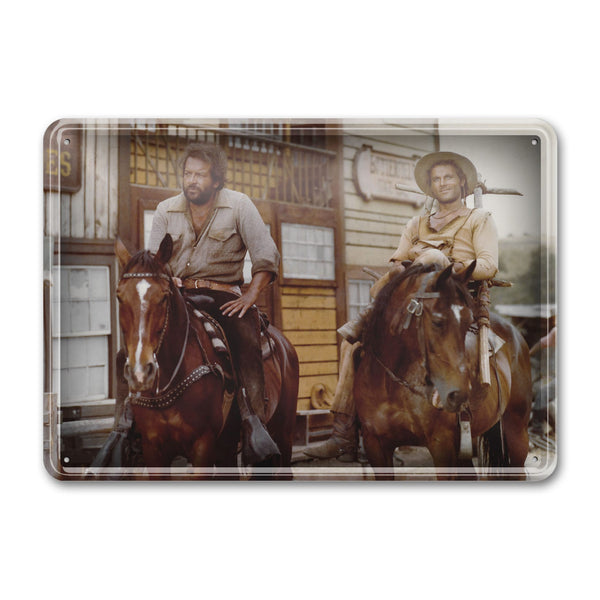Brothers on horse / Trinity Is Still My Name - Tin Sign (30x23cm) - Bud Spencer®