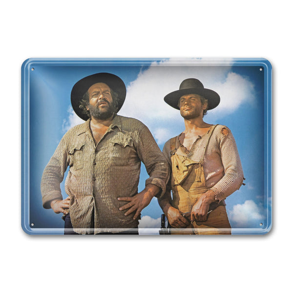 Bambino & Trinity / They Call Me Trinity / standing - Tin Sign (30x23cm) - Bud Spencer®