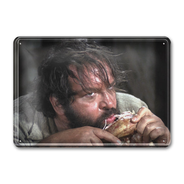 Bambino / Halleluja Dinner / Trinity Is Still My Name - Tin Sign (30x23cm) - Bud Spencer®