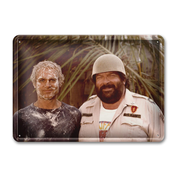 Who Finds a Friend Finds a Treasure - Tin Sign (30x23cm) - Bud Spencer®