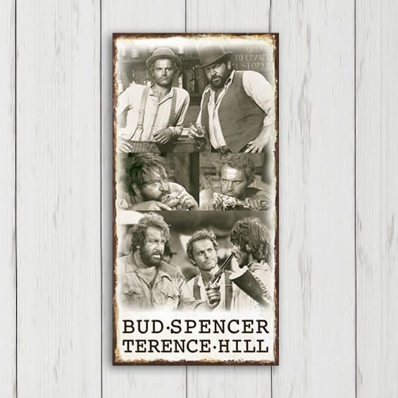 Bambino and Trinity - MDF-Plate (20x40cm) - Bud Spencer®