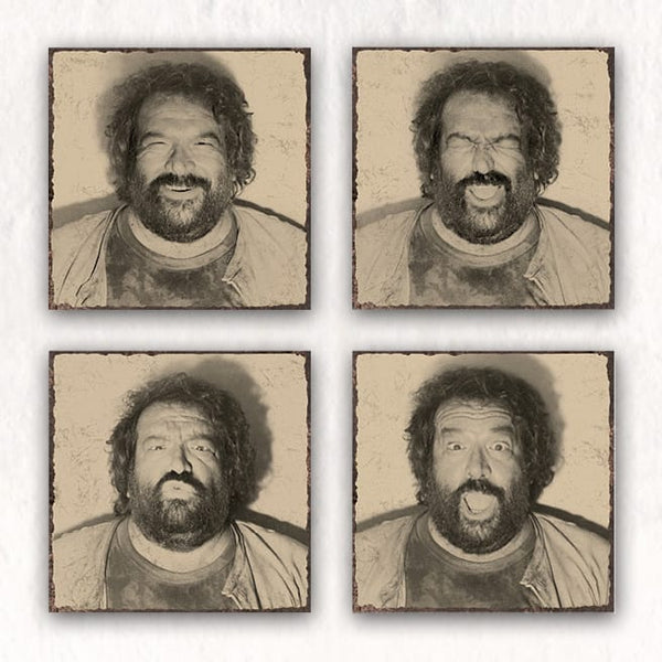 B.Joe Photo Booth (Set of 4) - MDF-Plate (4 pcs each 20x20cm) - Bud Spencer®