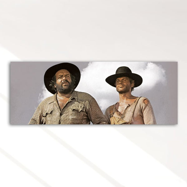 Bambino and Trinity / They Call Me Trinity - Glass Print (80x30cm) - Bud Spencer®