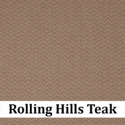 Custom Patio Outlet Stock Fabric - Rolling Hills Teak