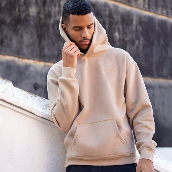 Hoodie Oversized D.Franklin Basic Stone
