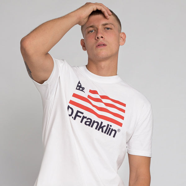 T-Shirt D.Franklin Flag White