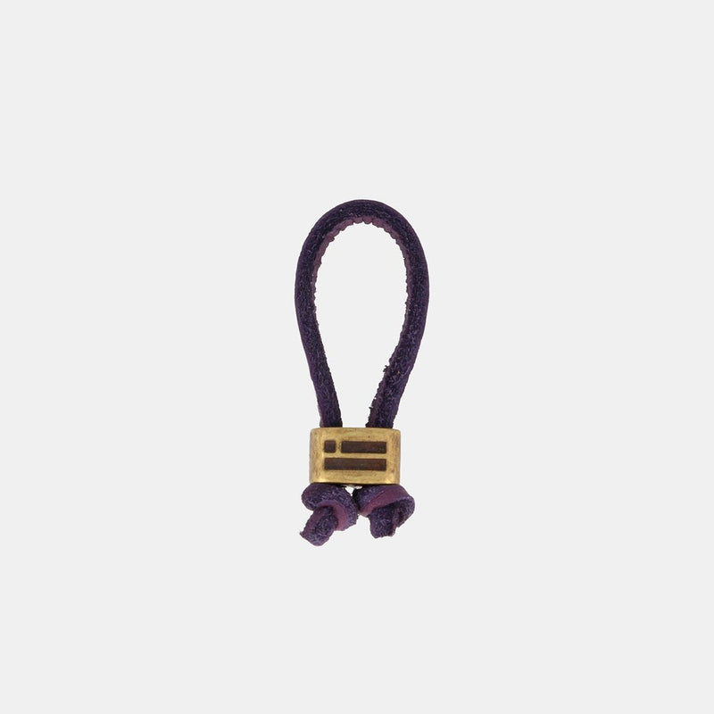 Keychain Magnum Leather Violet/Gold