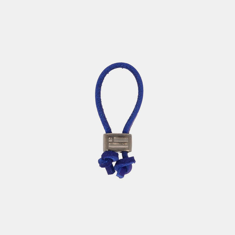 Keychain Jeroboam Leather Dark Blue/Metal